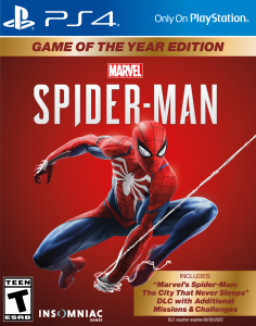 Marvel's Spider-Man GOTY Edition [PKG] [UPDATE] [ALL DLCs] [FIX] [PS4] [US] [EUR] [MF-MG-1F]