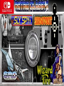 Retro Classix 4in1 Pack: Sly Spy, Shootout, Wizard Fire & Super Real Darwin (NSP) [Switch] [MF-MG-GD]